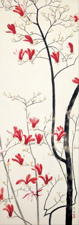 "Kobayashi Kokei -""Magnolia Tree"". About second quarter 20th century, Japan"