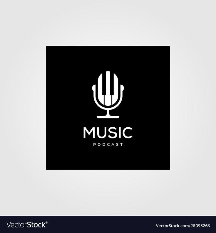 Podcastlogo Design: Music Podcast Radio Logo Icon Design Vector Image On In