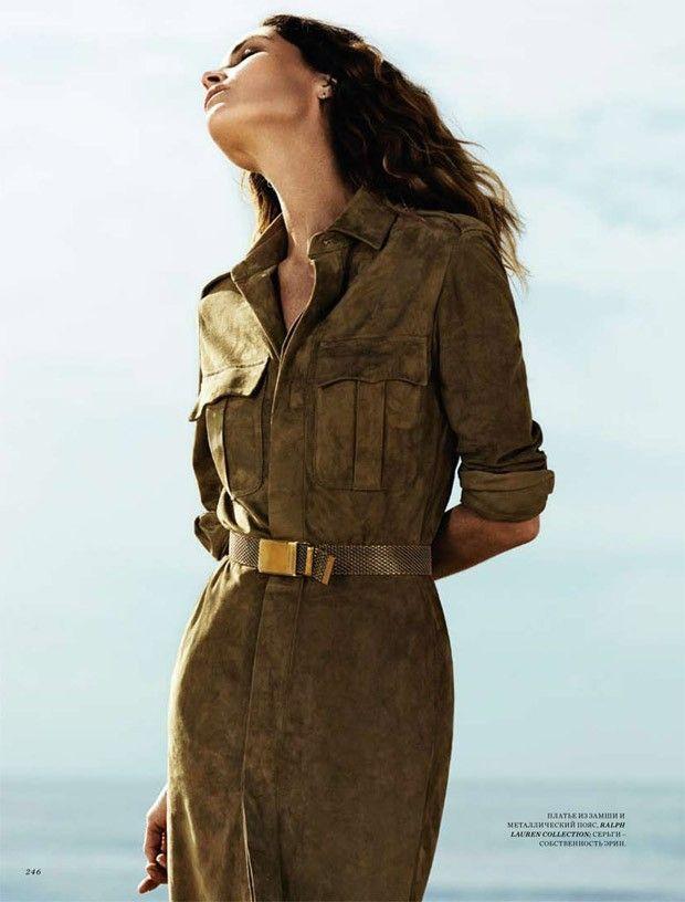 Erin Wasson for Harper's Bazaar Russia April 2015 by Andrew Yee - Ralph Lauren