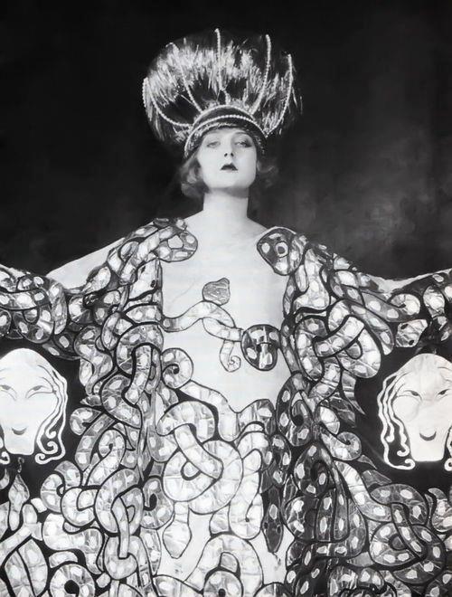 Ziegfeld Follies - Medusa dress with an abundance of snakes, 1920s