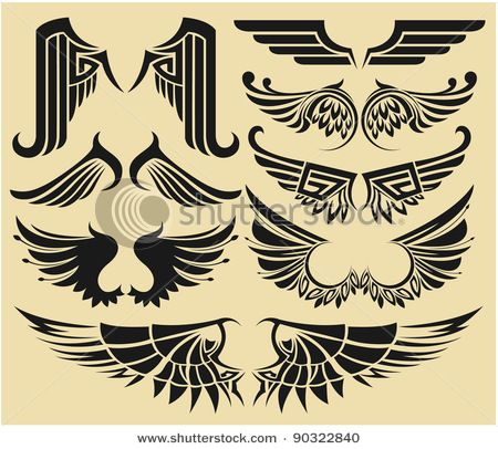 tribal wings tattoo - Google Search