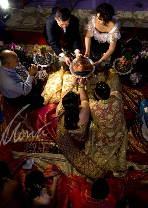 traditional blessings given at a Khmer wedding