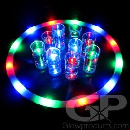 Glowing LED Serving Tray - Serve your guests with glowing light and brighten up any party! https://glowproducts.com/us/light-up-led-serving-tray