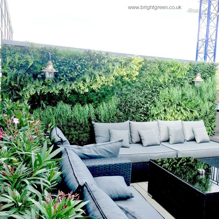 Awesome Exterior Artificial Green Wall Designed, Manufactured And Installed On A  Roof Terrace Pictures Gallery