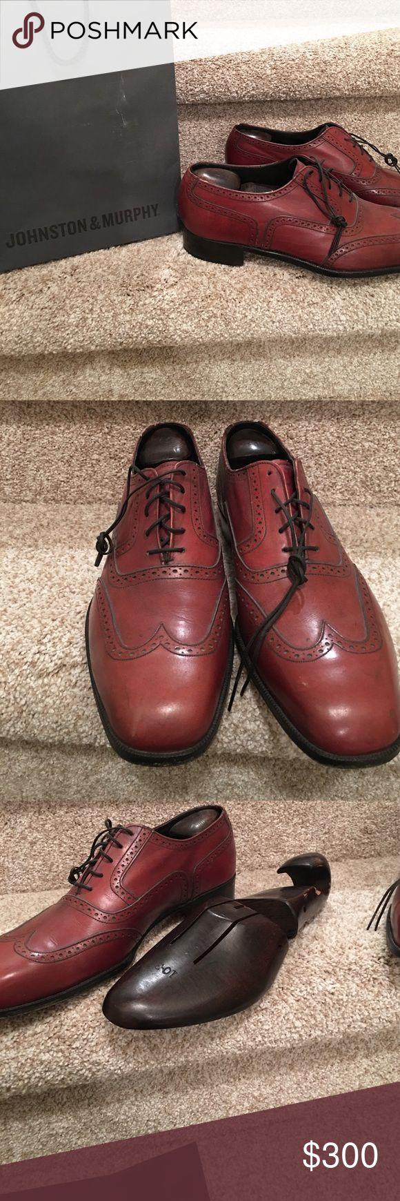 "Handmade Johnston & Murphy ""aristocraft"" *gems* Very quality vintage Johnston & Murphy ""aristocrat"" winged tips Johnston & Murphy Shoes Loafers & Slip-Ons"
