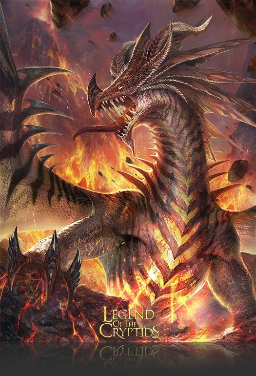 Artist: Atents - Title: 04legendch2 - Card: Muirdris, Lone Fire Dragon (Strife)