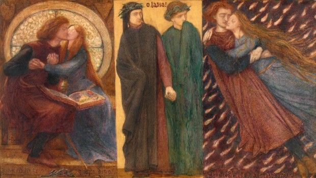 Paolo and Francesca da Rimini 1855 Dante Gabriel Rossetti 1828-1882 Purchased with assistance from Sir Arthur Du Cros Bt and Sir Otto Beit KCMG through the Art Fund 1916 http://www.tate.org.uk/art/work/N03056