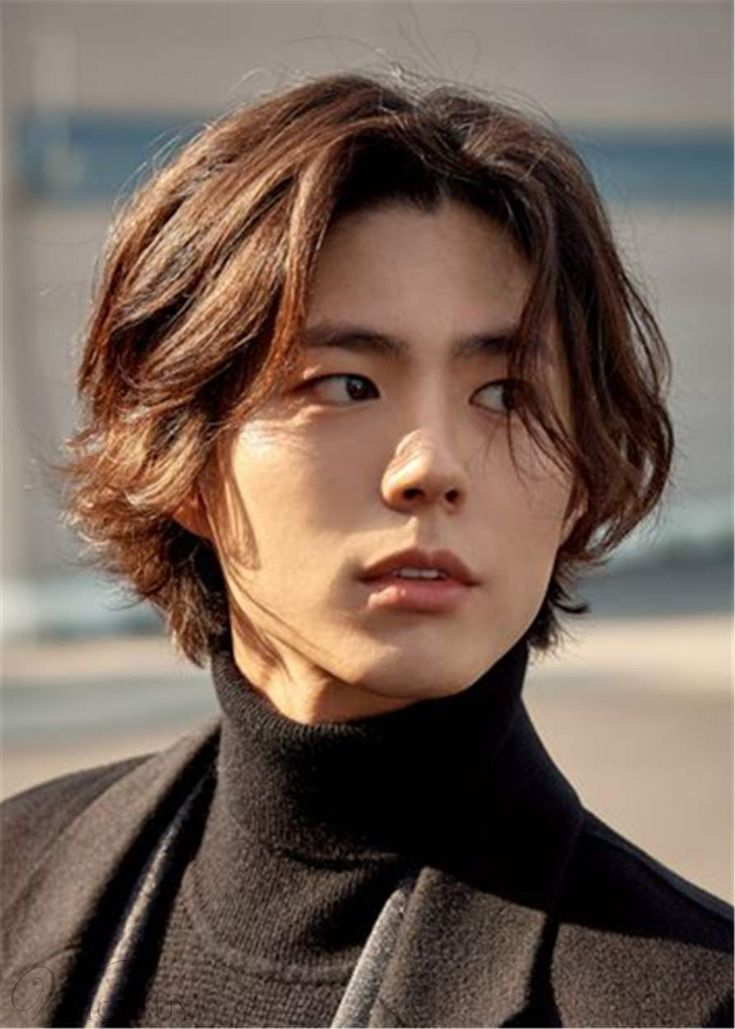 Korean Men's Hairstyle Wavy Human Hair Full Lace Cap in ...
