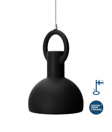 Studio Eero Aarnio-Riippuvalaisin Ring Lamp, musta