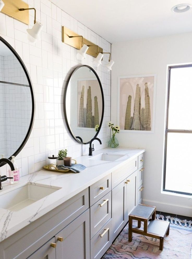 28++ White bathroom cabinets with lights best