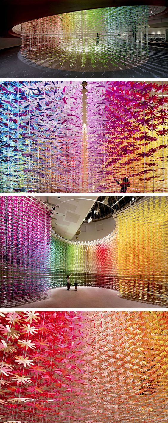 Over 25,000 Paper Flowers Transform Tokyo Venue into Colorful Art Experience | Click for full post! #paperart #installation