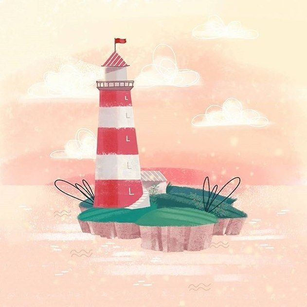 #L is for Lighthouse by @hanna_rawr