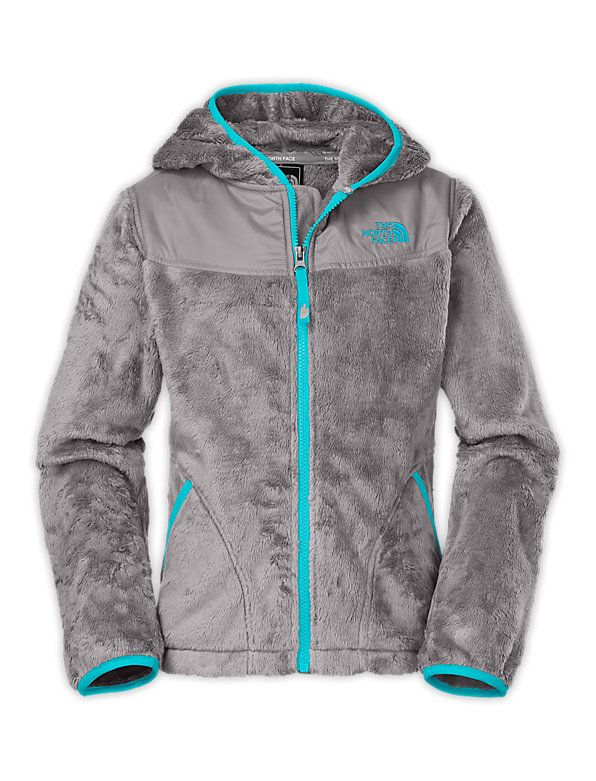 Girls' North Face Oso Hoodie metallic silver/turquoise blue #WileysOnline  #ONSALE