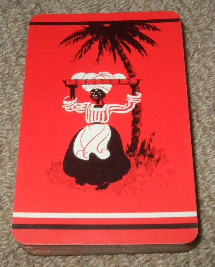 VINTAGE 1930's BOXED PACK OF L.G. SLOANS BLACK AMERICANA PLAYING CARDS