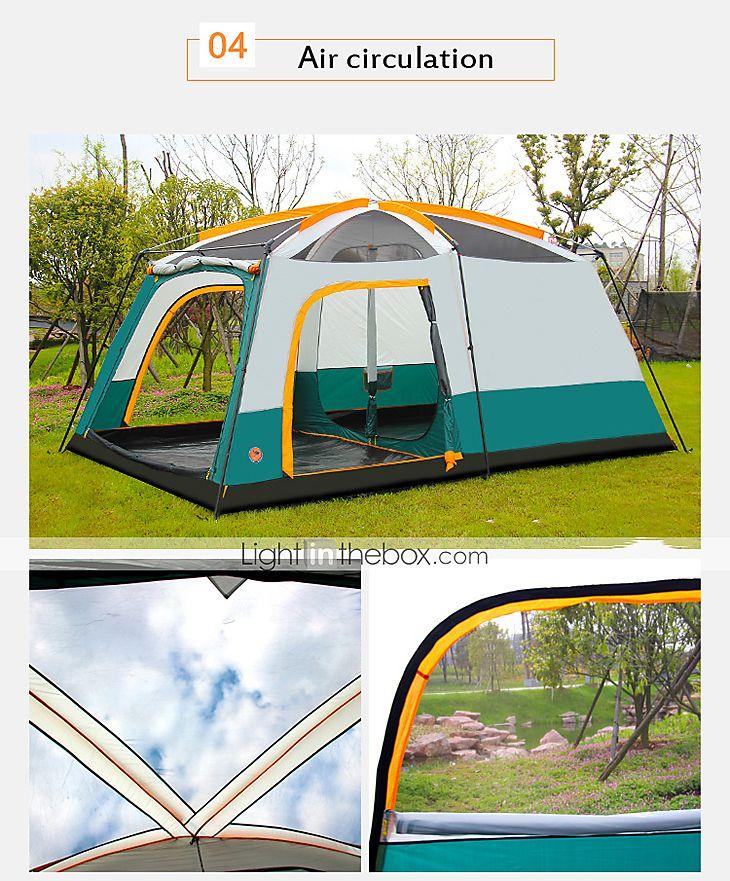 CAMEL® >8 személy Sátor Tripla/ Hármas Családi kemping sátrak Három szoba kemping sátor >3000 mmVízálló Lélegzési képesség Ultraibolya 5168214 2017 – $197.99