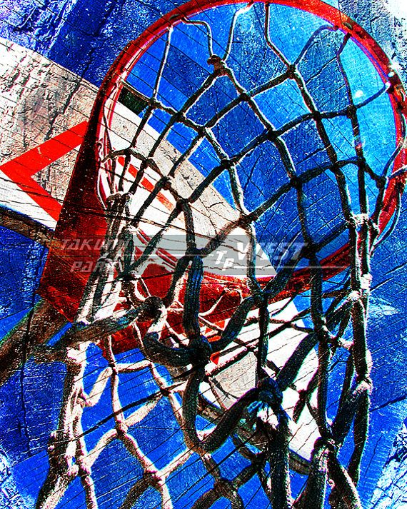 This colorful basketball artwork is a photo print. The basketball art comes in different sizes and can be found @etsy on takumipark west . The basketball photo print is $15.88 and up. #basketballposters