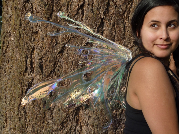 Real Fairy Wings by CroneDesigns on Etsy. $75.00 CAD, via Etsy.