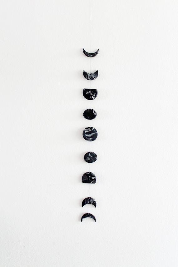 DIY: moon phase wall hanging