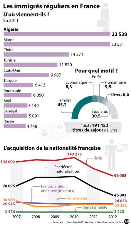 INFOGRAPHIE. Immigration : ce que disent les chiffres - Société - MYTF1News