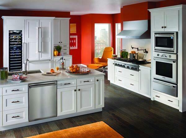 Plain Pale Orange Kitchen Poppy Glass Subway Tile E With Decor
