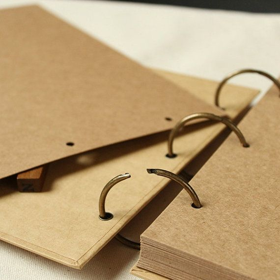 A4 Ring Binder Photo Album 56 pages// Kraft by PapergeekCo