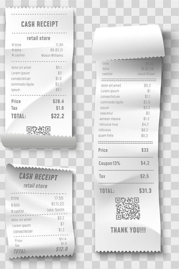 Shopping Receipt Retail Store Purchase Receipts Supermarke 991441 Elements Design Bundles In 2021 Purchase Receipt Objects Design Retail Store