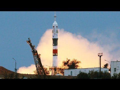 (149) Despegue del cohete Soyuz hacia la Estacion Espacial Internacional (15:41 GMT) - YouTube