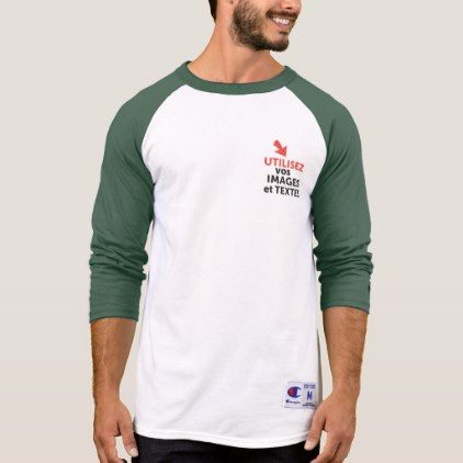 To print your designs in green line DIY French T-Shirt - mens sportswear fitness apparel sports men healthy life