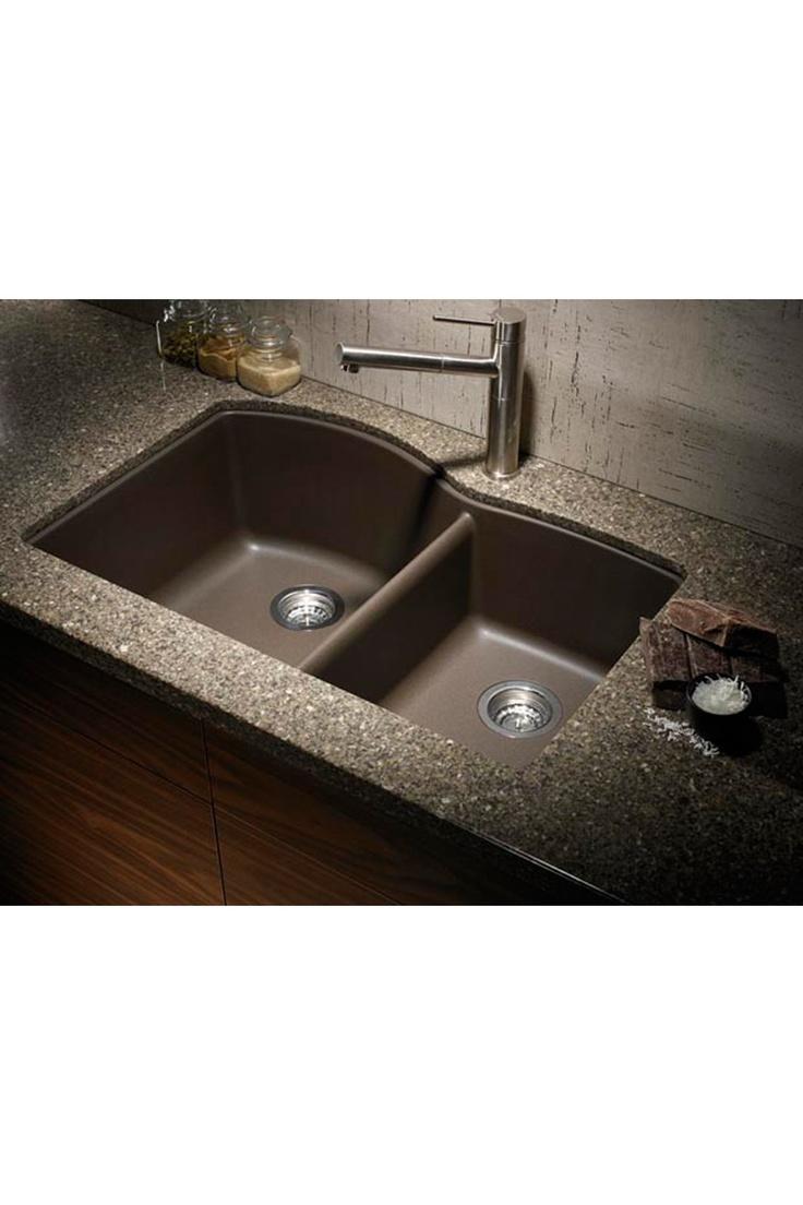 Blanco Silgranit 1 3/4 Basin Undermount Kitchen Sink - Cafe Brown