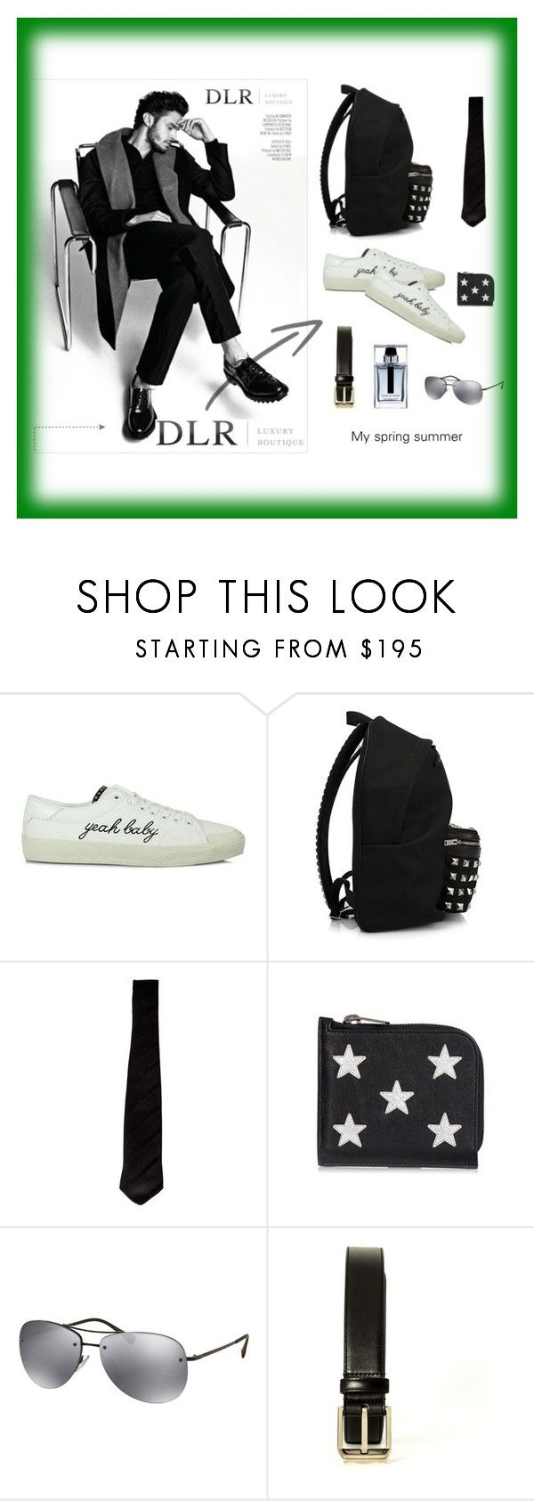 """YEAH BABY"" by dlrluxuryboutique ❤ liked on Polyvore featuring Yves Saint Laurent, Prada, Christian Dior, men's fashion and menswear"