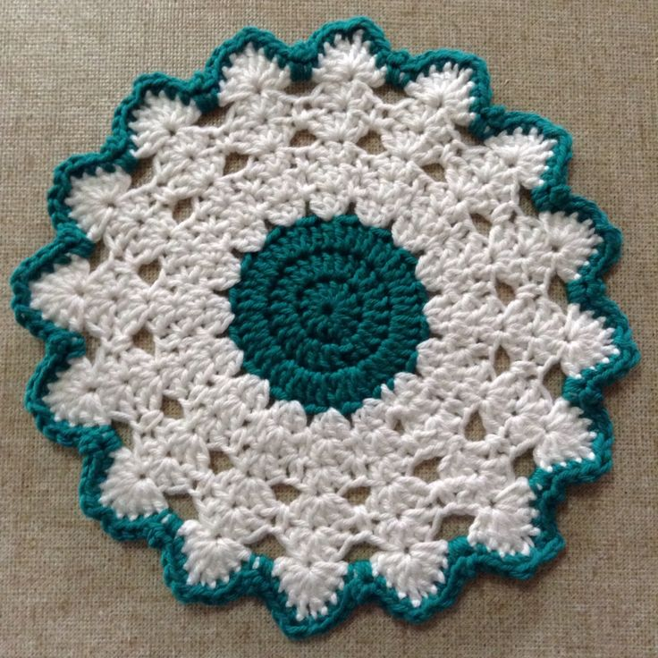 Crochet Table Mat. Pattern at Patterns for Crochet. U.S ...