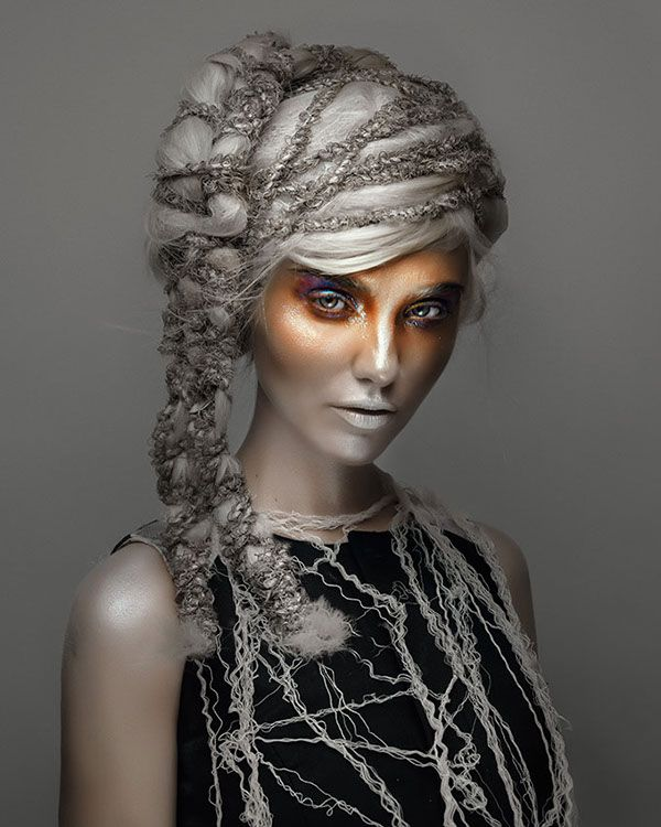 OLD GOLD on Makeup Arts Served: the celebration of dionysus' mysteries: for silver hair like the moon and passion 'round her eyes.
