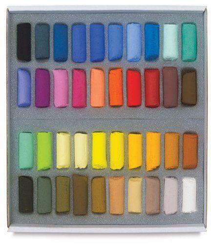 Amazon.com: Sennelier Pastel Half Stick Set - Assorted Colors - Set of 40 - Sennelier Pastel Half Stick Set - Assorted Colors - Set of 40