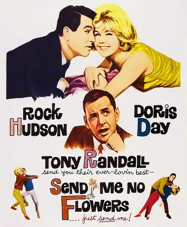 """Send Me No Flowers"" (1964) starring Rock Hudson, Doris Day and Tony Randall"