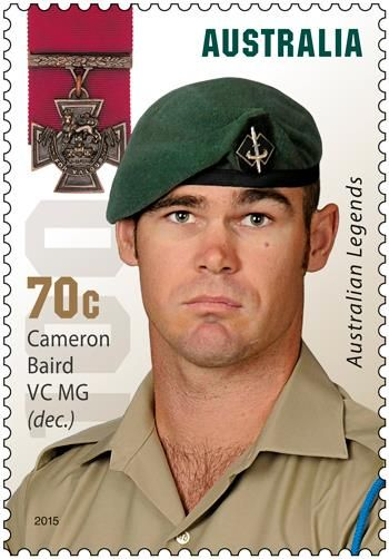 "CAMERON BAIRD VC MG ~  Legends status awarded posthumously who has received the Victoria Cross, the highest honour that can be bestowed for acts of valour ""in the presence of the enemy""."