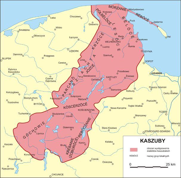 Kashubian dialects area (with ethnonyms groups) http://en.wikipedia.org/wiki/Kashubian_language