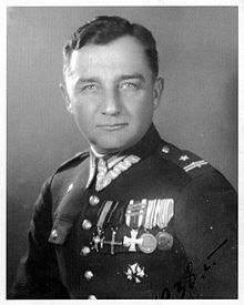 """Major Henryk Dobrzański aka """"Hubal"""" (June 22, 1897 - April 30, 1940) was a Polish soldier, sportsman and partisan. Their greatest success was their complete destruction of a battalion of the invader's infantry. Although they never numbered more than 300 men, the Germans were forced to put 8,000 men in the field against them.  It couldn't last, however, and on April 30, 1940 the Nazis finally got Hubal, nearly wiping out his unit in the process. His mutilated body was paraded"""