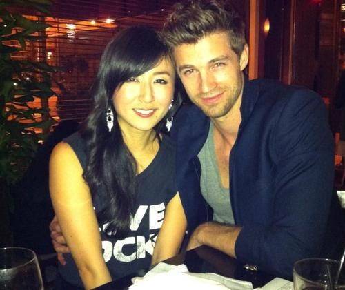Asian and White. Josiah & Hana Hawley.