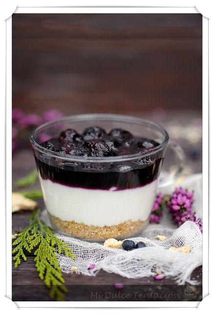 Mi dulce tentación: Vasitos de Tarta de Queso y Arándanos