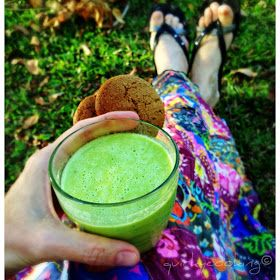 Pine lime green smoothie