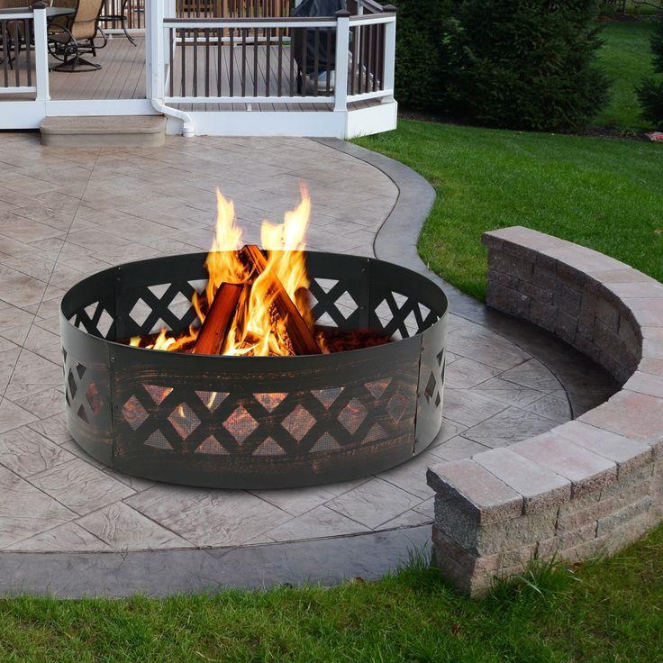 37 inch diameter steel fire pit campfire ring heavy duty