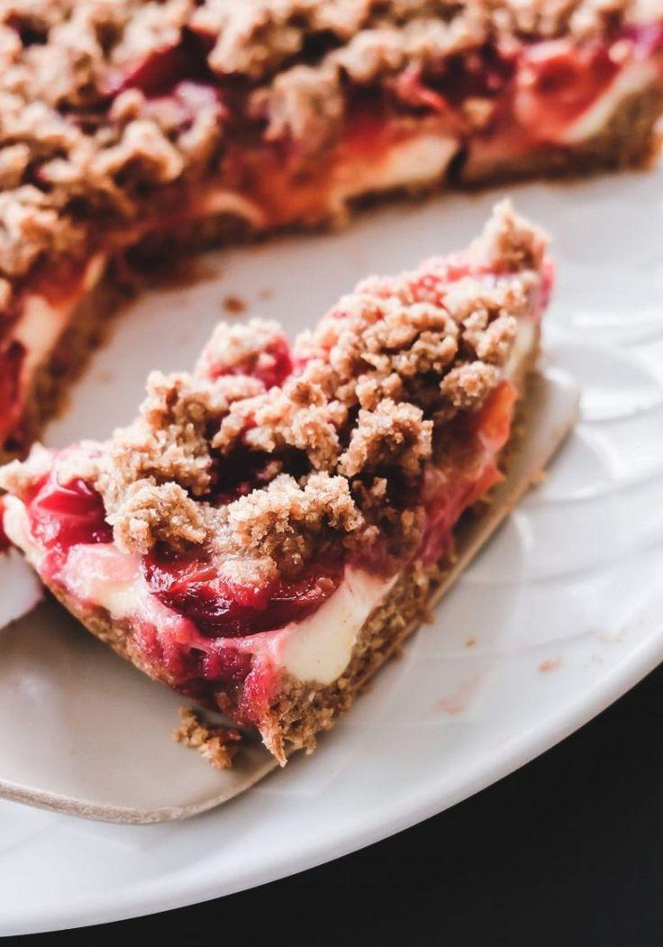 REZEPT: Pflaumenkuchen mit Pudding & Streuseln – Schnell & lecker!