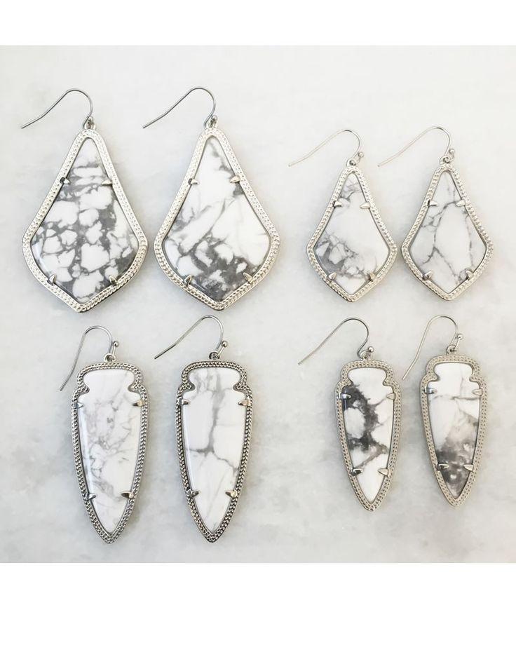 http://www.fashiontrendstoday.com/category/kendra-scott/ Sky Earrings in White Howlite - Kendra Scott Jewelry