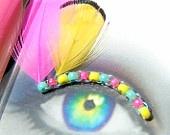 Feather False Eyelashes - Neon Flutter - Eyelash Jewelry