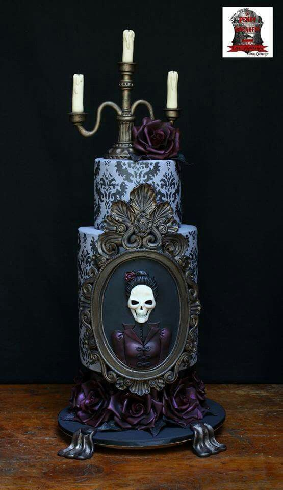 Very Unique Cakes by Veronique:  Halloween cake for The Penny Dreadful Cake Collaboration.