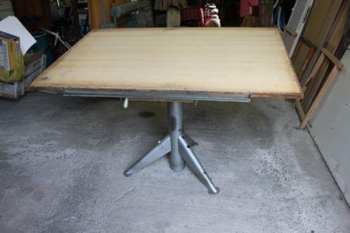 """Table a dessin industriel - Deco loft design - Architecte, géometre """" UNIC """""""