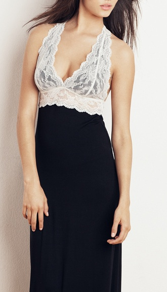 lace halter chemise | Underneath It All