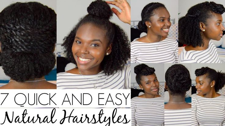 7 QUICK AND EASY Hairstyles For Natural Hair [Video] - http://community.blackhairinformation.com/video-gallery/natural-hair-videos/7-quick-easy-hairstyles-natural-hair-video/