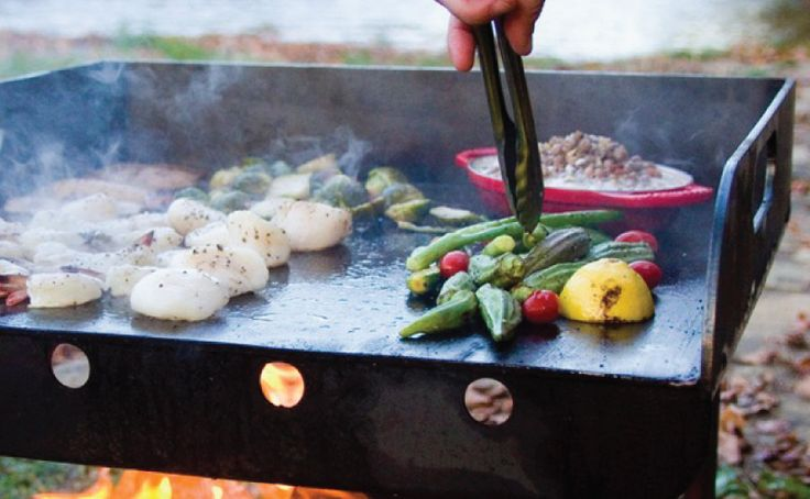 Clean 1 1/2 cups of whole okra per person Once clean, trim the stem ends close to the crown of the okra Toss the okra with salt and pepper and coat it inextra virgin olive oil and thyme Place okra on a hot grill ( or roast in the oven ) until charred on all sides, and serve hot