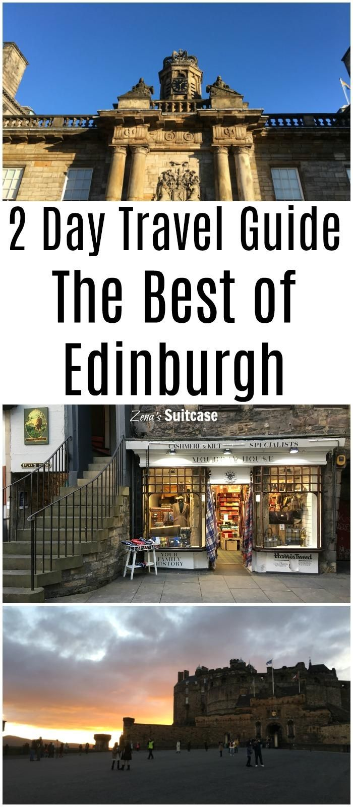 2 Day Travel Guide For Visiting Edinburgh in Scotland. The best places to visit during a short city break in Scotland's capital #Edinburgh #Scotland #visitEdinburgh #travelguide